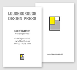 Loughborough Design Press Business Cards