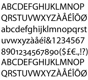Myriad Pro Font Sample Text